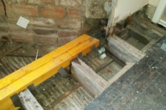 floor timber beam replaced