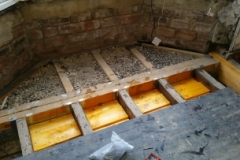 Floor joists replaced and deafening layed