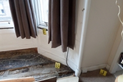 Dry rot in top of floor timber beam end